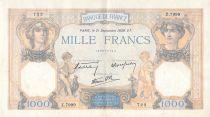 France 1000 Francs Cérès et Mercure - 21-09-1939 Série Z.7999 - TTB