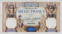 France 1000 Francs Cérès et Mercure - 22-08-1927 Série P.476 - TTB