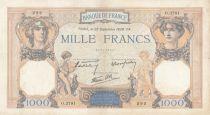 France 1000 Francs Cérès et Mercure - 22-09-1938 Série O.3781 - TTB