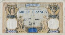 France 1000 Francs Cérès et Mercure - 22-09-1938 Série W.3787 - PTB