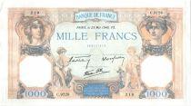 France 1000 Francs Cérès et Mercure - 23-05-1940 Série C.9726-219