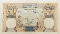 France 1000 Francs Cérès et Mercure - 23-05-1940 Série Z.9716 - TTB