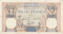 France 1000 Francs Cérès et Mercure - 26-01-1939 - Série O.5632