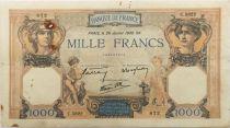 France 1000 Francs Cérès et Mercure - 26-01-1939 Série C.5822 - TTB