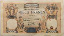 France 1000 Francs Cérès et Mercure - 26-01-1939 Série C.5839 - TTB