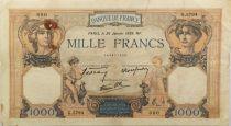 France 1000 Francs Cérès et Mercure - 26-01-1939 Série G.5794 - TB+