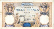 France 1000 Francs Cérès et Mercure - 26/01/1939 Série G.5960 - TTB