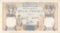 France 1000 Francs Cérès et Mercure - 26-01-1939 Série J.5501 - TB