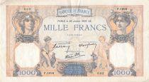 France 1000 Francs Cérès et Mercure - 26-01-1939 Série P.5926 - TB