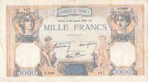 France 1000 Francs Cérès et Mercure - 26-01-1939 Série R.5995 - TB
