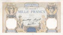 France 1000 Francs Cérès et Mercure - 26/08/1937 Série D3034