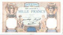 France 1000 Francs Cérès et Mercure - 26-08-1937 Série Q.3022