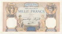 France 1000 Francs Cérès et Mercure - 26-08-1938 Série Z.3024