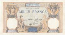 France 1000 Francs Cérès et Mercure - 26-08-1938 Série Z.3024