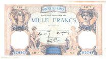 France 1000 Francs Cérès et Mercure - 27/10/1938 Série A.4977 - TTB