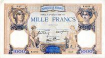 France 1000 Francs Cérès et Mercure - 27/10/1938 Série H.4813 - TTB