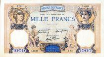 France 1000 Francs Cérès et Mercure - 27/10/1938 Série O.4833 - TTB