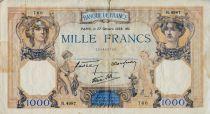 France 1000 Francs Cérès et Mercure - 27-10-1938 Série R.4987 - TB+