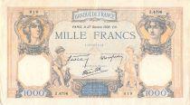 France 1000 Francs Cérès et Mercure - 27-10-1938 Série Z.4796 - TTB