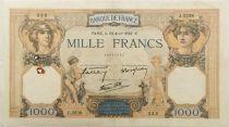 France 1000 Francs Cérès et Mercure - 28-04-1938 Série J.3238 - TB