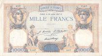 France 1000 Francs Cérès et Mercure - 28-07-1927 Série Y.417 - TB+