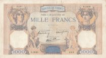 France 1000 Francs Cérès et Mercure - 28-07-1938 - Série B.3650