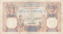 France 1000 Francs Cérès et Mercure - 28-10-1927 - Série O.646