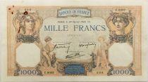 France 1000 Francs Cérès et Mercure - 29-02-1940 Série C.9002 - TTB