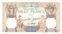 France 1000 Francs Cérès et Mercure - 29-09-1932 Série Q.2141 - TTB