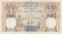 France 1000 Francs Cérès et Mercure - 30-03-1939 - Serial Y.6525