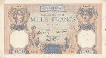 France 1000 Francs Cérès et Mercure - 30-03-1939 - Série D.6502 3ème ex