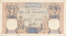 France 1000 Francs Cérès et Mercure - 30-03-1939 - Série D.6502