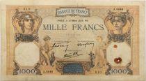 France 1000 Francs Cérès et Mercure - 30-03-1939 Série A.6846 - TTB