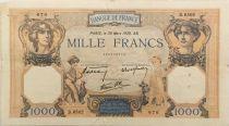 France 1000 Francs Cérès et Mercure - 30-03-1939 Série D.6502 - TB+