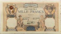 France 1000 Francs Cérès et Mercure - 30-03-1939 Série K.6667 - TTB