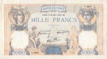 France 1000 Francs Cérès et Mercure - 30-03-1939 Série U.6865 - TB+