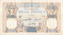 France 1000 Francs Cérès et Mercure - 31-12-1936 Série B.2692 - TB+