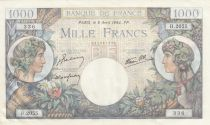France 1000 Francs Commerce and Industry - 06-04-1944 -  AU -P.96