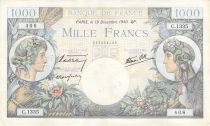 France 1000 Francs Commerce and Industry - 19-12-1940 Serial C.1135 - VF