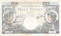 France 1000 Francs Commerce and Industry - 19-12-1940 Serial C.1369 - F+