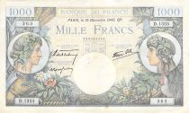 France 1000 Francs Commerce and Industry - 19-12-1940 Serial D.1335 - VF+