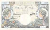 France 1000 Francs Commerce and Industry - 19-12-1940 Serial E.1335 - VF