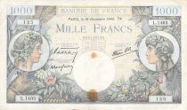 France 1000 Francs Commerce and Industry - 19-12-1940 Serial L.1405 - F to VF