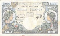 France 1000 Francs Commerce and Industry - 19-12-1940 Serial N.1335 - VF