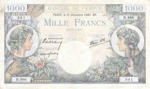 France 1000 Francs Commerce and Industry - 19-12-1940 Serial R.986 - VF