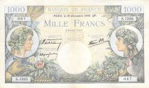 France 1000 Francs Commerce and Industry - 19-12-1940 Serial S.1135 - VF