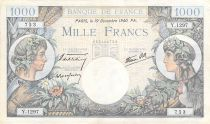 France 1000 Francs Commerce and Industry - 19-12-1940 Serial Y.1297 - VF