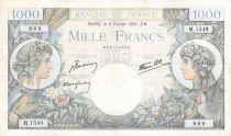 France 1000 Francs Commerce et Industrie - 06-02-1941 Série M.1549 - PTTB