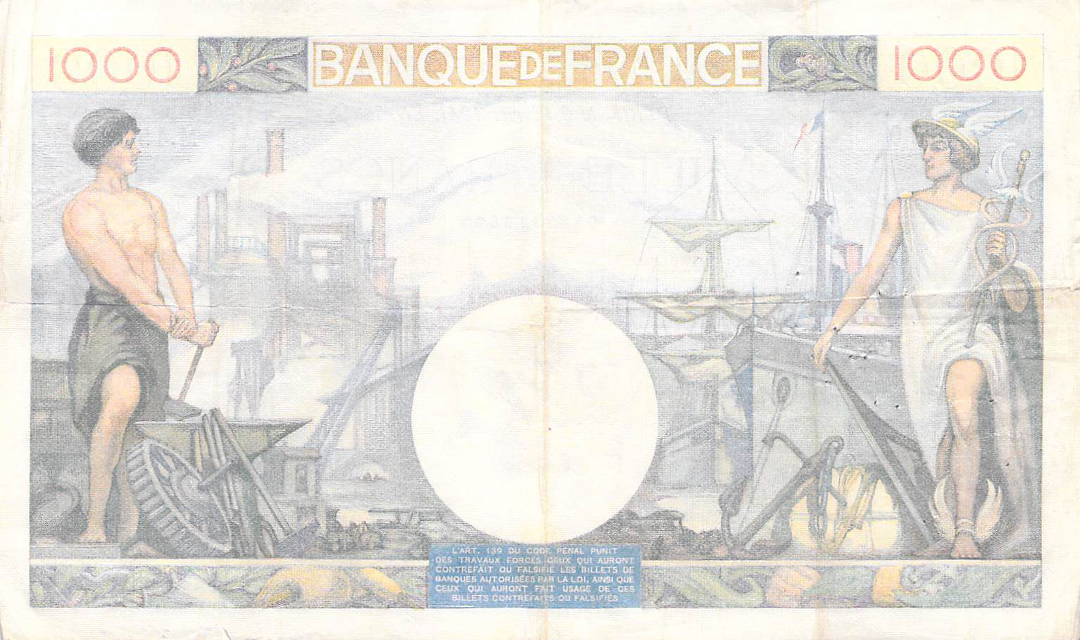 France 1000 Francs Commerce et Industrie - 06-02-1941 Série M.1549 - PTTB