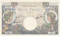 France 1000 Francs Commerce et Industrie - 06-07-1944 - Série H.3620 - Neuf